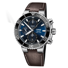01 774 7743 4155-07 5 24 10EB   Oris Aquis Chronograph 45.5mm watch. Buy