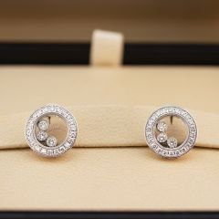 83A018-1201 | Buy Chopard Happy Diamonds Icons Ear Pins White Gold
