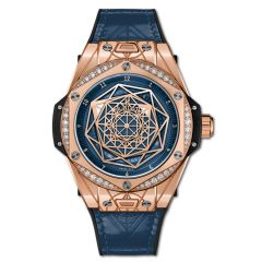 465.OS.7189.VR.1204.MXM19 | Hublot Big Bang One Click Sang Bleu King Gold Blue Diamonds 39 mm watch | Buy Now