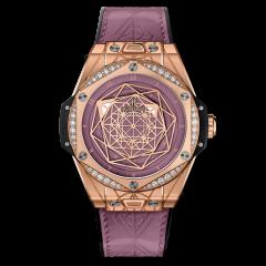 465.OS.89P8.VR.1204.MXM20 | Hublot Big Bang Sang Bleu One Click King Gold Pink Diamonds 39mm watch. Buy Online