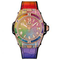 465.OX.9910.LR.0999 | Hublot Big Bang One Click Rainbow King Gold 39 mm watch | Buy Now