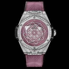 465.SS.89P7.VR.1204.MXM20 | Hublot Big Bang Sang Bleu One Click Steel Pink Diamonds 39mm watch. Buy Online