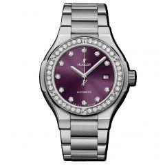 585.NX.897V.NX.1204   Hublot Classic Fusion Titanium Purple Diamonds Bracelet 33 mm watch   Buy Now