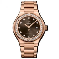 585.OX.898M.OX.1204   Hublot Classic Fusion King Gold Brown Diamonds Bracelet 33 mm   Buy Now