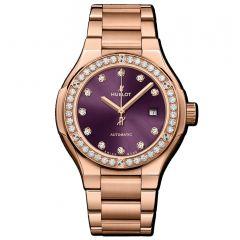 585.OX.898V.OX.1204   Hublot Classic Fusion King Gold Purple Diamonds Bracelet 33 mm watch   Buy Now