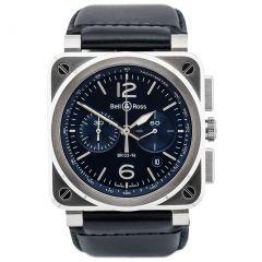 BR0394-BLU-ST/SCA Bell & Ross Br 03-94 Blue Steel 42 mm watch. Buy Now