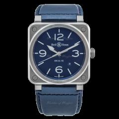 BR0392-BLU-ST/SCA | Bell & Ross Br 03-92 Blue Steel 42 mm watch.
