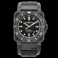 BR0392-D-BL-CE/SRB | Bell & Ross Br 03-92 Diver Black Matte 42 mm watch. Buy Now