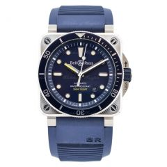 BR0392-D-BU-ST/SRB | Bell & Ross Br 03-92 Diver Blue 42 mm watch. Buy