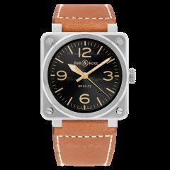 BR0392-GH-ST/SCA | Bell & Ross Br 03-92 Golden Heritage 42mm watch. Buy Online
