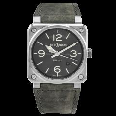 BR0392-GC3-ST/SCA | Bell & Ross Br 03-92 Grey Lum 42mm watch. Buy Online