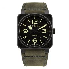 BR0392-BL3-CE/SCA | Bell & Ross Br 03-92 Nightlum 42 mm watch. Buy Now