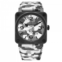 BR0392-CG-CE/SCA | Bell & Ross Br 03-92 White Camo 42 mm watch. Buy Online