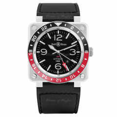 BR0393-BL-ST/SCA | Bell & Ross BR 03 93 GMT 42mm watch. Buy Online