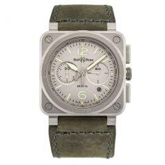 BR0394-GR-ST/SCA | Bell & Ross Br 03-94 Horolum 42 mm watch. Buy Now