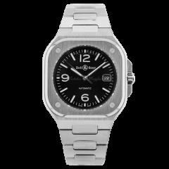 BR05A-BL-ST/SST | Bell & Ross Br 05 Black Steel 40mm watch. Buy Online