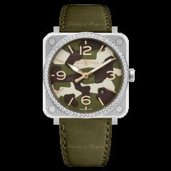 Bell & Ross BR S Green Camo Diamonds 39 mm BRS-CK-ST-LGD/SCA