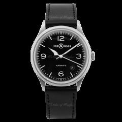 BRV192-BL-ST/SCA | Bell & Ross BR V1-92 Black Steel 38.5 mm watch. Buy Now