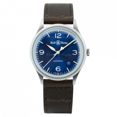 BRV192-BLU-ST/SCA | Bell & Ross BR V1-92 Blue Steel 38.5 mm watch | Buy Now