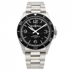 BRV292-BL-ST/SST | Bell & Ross Br V2-92 Black Steel 41 mm watch. Buy On;ine