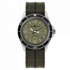 BRV292-MKA-ST/SF | Bell & Ross Br V2-92 Military Green 41mm watch. Buy Online