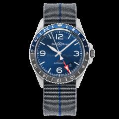 BRV293-BLU-ST/SF | Bell & Ross BR V2-93 GMT Blue 41 mm watch | Buy Now
