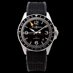 BRV293-BL-ST/SRB | Bell & Ross Br V2-93 GMT 41 mm watch. Buy Online