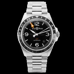 BRV293-BL-ST/SST | Bell & Ross Br V2-93 GMT 41 mm watch. Buy Online