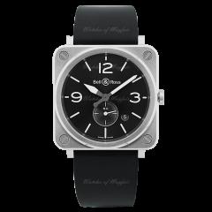 BRS-BLC-ST-SRB   Bell & Ross BR S Quartz Steel 39 mm watch. Buy Online