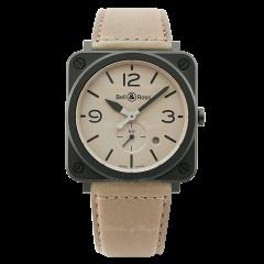 BRS-DESERT-CEM   Bell & Ross BR S Desert Type 39 mm watch. Buy Online