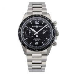BRV294-BL-ST/SST Bell & Ross Br V2-94 Black Steel 41 mm watch. Buy Now