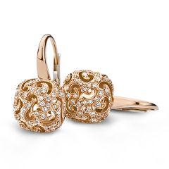 20O55RDIA | Buy Online BIGLI Mini Sweety Rose Gold Diamond Earrings