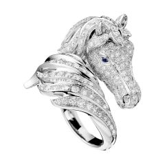 JRG01816   Boucheron Animaux de Collection White Gold Diamond Ring