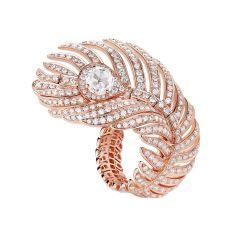 JRG02807   Boucheron Nature Triomphante Diamond Pink Gold Ring