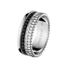 JRG01791 Buy Online Boucheron Quatre White Gold Black PVD Diamond Ring