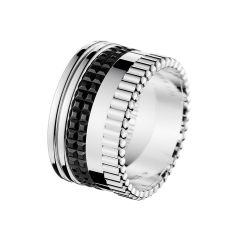 JRG01789   Buy Online Boucheron Quatre White Gold Black PVD Ring
