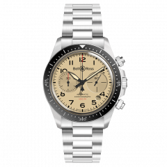 BRV294-BEI-ST/SST | Bell & Ross Br V2-94 Military Beige 41 mm watch. Watches of Mayfair