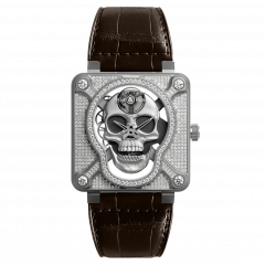 BR01-SKULL-SK-FLD | Bell & Ross Br 01 Laughing Skull Full Diamond 46 mm watch.