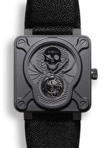 BR01-TOURB-AIRBORN   Bell & Ross BR 01 Tourbillon Skull 46 mm watch