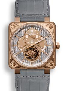 BR01-TOURB-PG/ALU   Bell & Ross BR 01 Tourbillon Pink Gold 46 mm watch