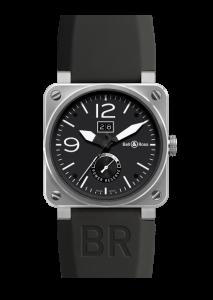 BR0390-BL-ST | BellRoss BR 03-90 Grande Date & Reserve De Marche Steel