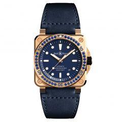 BR0392-D-BU-BR-LGS | Bell & Ross Br 03-92 Diver Blue Bronze Sapphire Bezel Limited Edition 42mm watch. Buy Online