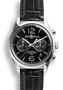 BRG126-BL-ST/SCR | Bell & Ross BR 126 Officer Black 41 mm watch.