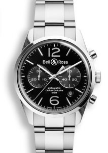 BRG126-BL-ST/SST | Bell & Ross BR 126 Officer Black 41 mm watch.