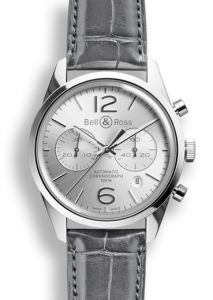 BRG126-WH-ST/SCR | Bell & Ross BR 126 Officer Silver 41 mm watch