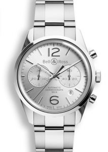 BRG126-WH-ST/SST | Bell & Ross BR 126 Officer Silver 41 mm watch