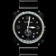 BRS-BL-CES-LGD/SCE | Bell & Ross BR S Black Ceramic Diamonds watch