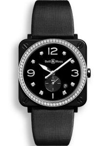 BRS-BL-CES-LGD/SSA | Bell & Ross BR S Black Ceramic Diamonds watch