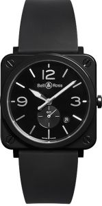 Bell & Ross Aviation Black Ceramic BRS-BL-CES/SRB