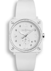 BRS-WH-CES-LGD/SRB   Bell & Ross BR S White Ceramic Diamonds watch